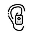 earphone in ear icon outline vector image vector image