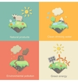 Ecology Concept Icons Set for Environment Green vector image vector image