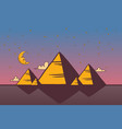 egyptian pyramids night vector image