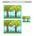 find differences forest owl squirrel vector image