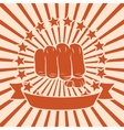 Fist comic poster vector image vector image
