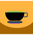 Flat icon design collection cup of tea vector image