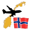 fly me to the Norway vector image