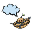 flying saucer 100 vector image vector image