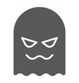 ghost glyph icon horror and character horror vector image vector image
