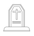 halloween grave icon vector image