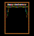 Happy anniversary vector image vector image
