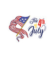 happy independence day womens hand holding flag vector image