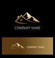 house mountain gold logo vector image