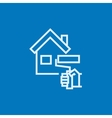 House painting line icon vector image