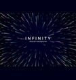 infinity and space abstract background travel vector image vector image