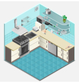 Kitchen Interior Isometric Template vector image vector image