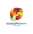 letter f logo vector image vector image