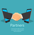 mobile partnership concept vector image