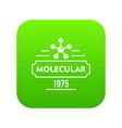 molecular icon green vector image vector image