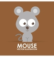 mouse cute vector image vector image