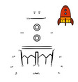 numbers game spaceship vector image vector image