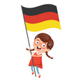 of kid holding flag vector image vector image