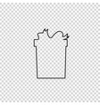 outline black silhouette of giftbox on vector image vector image