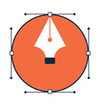 pen tool design icon vector image
