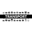 public transport minimal infographic banner vector image vector image