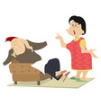 quarrel between man and woman isolated vector image vector image