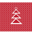 red and white tree vector image vector image
