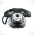 Retro style telephone vector image vector image