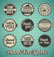 Retro style thank you labels and icons vector | Price: 1 Credit (USD $1)