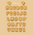 romantic sweet cipher text you are my cookie vector image vector image