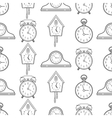 Seamless pattern with different kinds of watches vector image vector image