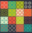 Set of 16 seamless patterns vector image