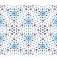 Small Blue and Red Flower Pattern vector image vector image