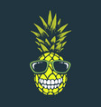 smiling funny pineapple vector image vector image