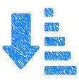 sort down arrow grunge icon vector image vector image