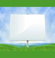 spring or summer landscape white billboard vector image vector image