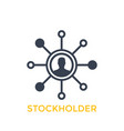 stockholder icon isolated on white vector image vector image