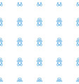 teddy bear icon pattern seamless white background vector image vector image