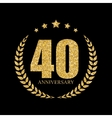template logo 40 years anniversary