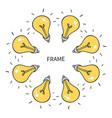 the idea bulb frame unexpected idea included vector image