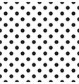 Tile black polka dots on white background vector image