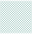 Tile green polka dots on white background vector image vector image