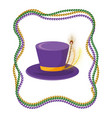 top hat with beads vector image vector image