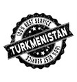 turkmenistan best service stamp with grungy style vector image