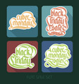 typographical sale inscriptions set vector image vector image