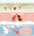 Valentine Day horizontal banners vector image vector image