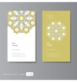 Visit cards set with arabic ornament vector image vector image