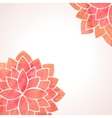 Watercolor red flower patterns background vector image vector image