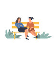 women friendly taking friendship of people sitting vector image vector image