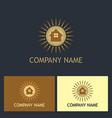 house shine realty company logo vector image